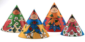 Size Ordering Russian Doll Cones - size, order, paper craft, toys