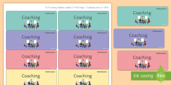 Maths 'Coaching' Stickers - Marking, Feedback, Stickers, Rewards, Learning, Attitude, Time-Saving, Positive, Praise
