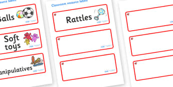 Ruby Red Themed Editable Additional Resource Labels - Themed Label template, Resource Label, Name Labels, Editable Labels, Drawer Labels, KS1 Labels, Foundation Labels, Foundation Stage Labels, Teaching Labels, Resource Labels, Tray Labels, Printable