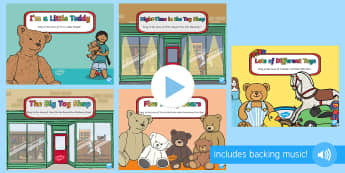 Toys Songs and Rhymes PowerPoints Pack - EYFS, Early Years, Toys, teddy bear, toy shop, singing, songs, music