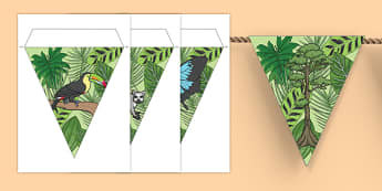 Rainforest Themed Bunting - rainforest, bunting, display bunting, jungle