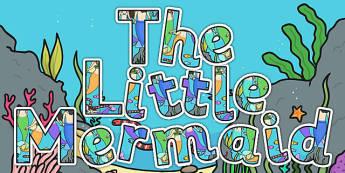 The Little Mermaid Display Lettering - stories, display, letters