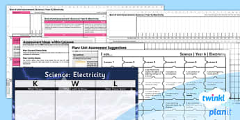 PlanIt - Science Year 6 - Electricity Unit Assessment Pack - planit, science, year 6, electricity, assessment pack