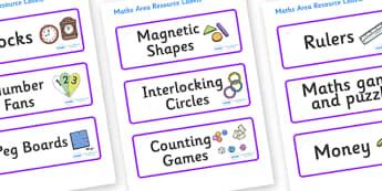 Lynx - Star Constellation Themed Editable Maths Area Resource Labels - Themed maths resource labels, maths area resources, Label template, Resource Label, Name Labels, Editable Labels, Drawer Labels, KS1 Labels, Foundation Labels, Foundation Stage La