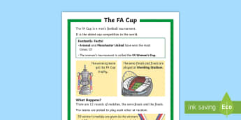 KS1 FA Cup Differentiated Fact File - Football, Sport, Competition, P.E., Facts, Information, Non-fiction, Boys Interests