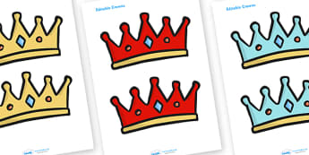 Editable Crowns - Crown, crowns, hat, editable, display hat, A4