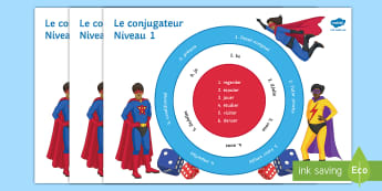 Verb Conjugator Differentiated Game French - KS3, French, Grammar, Verb, tense, present, future, imperfect, perfect, conditional, game, dice, con