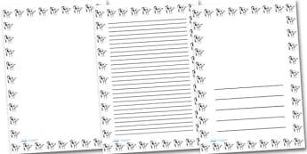 Calf Portrait Page Borders- Portrait Page Borders - Page border, border, writing template, writing aid, writing frame, a4 border, template, templates, landscape