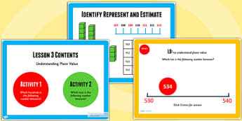 Year 3 Identify Represent and Estimate Lesson 3 Teaching Pack