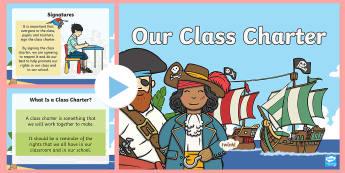 Class Charter Pirate-Themed PowerPoint - Class, Charter, Pirate, Themed, PowerPoint, Lesson, Presentation