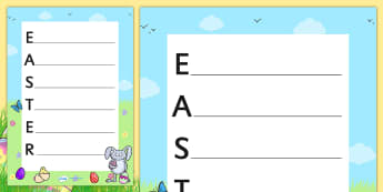 Easter Acrostic Poem - acrostic poems, acrostic poem, acrostic, poem, poetry, easter poetry, easter poem, writing poetry, easter acrostic poetry, easter acrostic, literacy, writing activity, activity