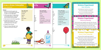 EYFS Science Experiments Resource Pack to Support Teaching on The Crunching Munching Caterpillar - The Crunching Munching Caterpillar, Sheridan Cain, life cycle of a butterfly, caterpillar, butterfly