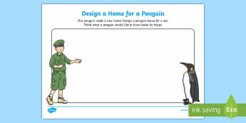 Design a Home for a Penguin Activity Sheet - dublin zoo, penguin, home, zoo, news, habitat, design