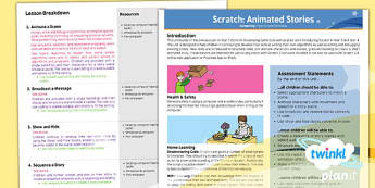 Computing: Scratch Animated Stories Year 6 Planning Overview