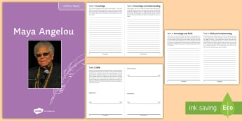 Maya Angelou Author Study Pack - Maya Angelou, I know why the caged bird sings, memoirist, poet study, black history month, black lit