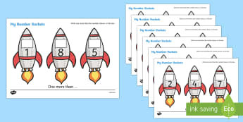 My Number Rockets (One More) - Counting, Numeracy, One more than, Foundation, Calculation, Adding, Rocket Resource, Addition, numeracy, numbers, one more, transport, rocket, space