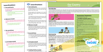 Geography: Our Country KS1 Planning Overview CfE