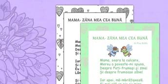 Poezie Mama Zana Mea cea Buna, Nina Beldie - ziua mamei, 8 martie