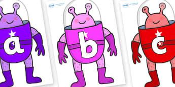 Phoneme Set on Alien - Phoneme set, phonemes, phoneme, Letters and Sounds, DfES, display, Phase 1, Phase 2, Phase 3, Phase 5, Foundation, Literacy