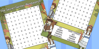 The Secret Garden Wordsearch - wordsearch, secret garden, game