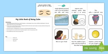 My Little Book of Being Calm Mini Booklet - mindfulness, coping with feelings, strong emotions,  clamming tools, calm down, dealing with anger a