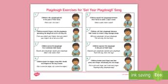 'Get Your Playdough' Playdough Exercises Adult Guidance - Playdough Play, dough disco, finger gym, fine motor skills, physical development