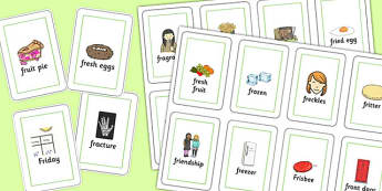 Two Syllable FR Playing Cards - two syllable, fr, playing cards, play, cards, speech, language