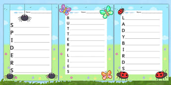 Minibeast Acrostic Poem Pack - acrostic poems, acrostic poem, minibeast acrostic poem zip pack, acrostic poem pack, acrositc poem minibeast pack, minibeast pack, minibeast poem pack, minibeast poems, acrostic, poem, poetry, literacy, writing activity