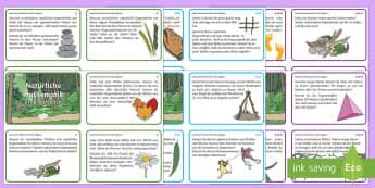 Mathe Aufgaben für Draußen: DIN A6 Karteikarten - Übersetzungen und Wünsche, German