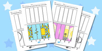 Light and Dark Cutting Skills Worksheet - Light, Dark, Cut, Shade