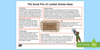 KS1 The Great Fire of London Drama Teaching Ideas - english, speaking and listening, group drama, mime, performance