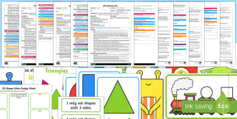 EYFS Beginning To Use Mathematical Names For 'Flat' 2D shapes Adult Input Planning and Resource Pack-Australia - Beginning to use mathematical names for  'flat' 2D shapes, and mathematical terms to describe sh