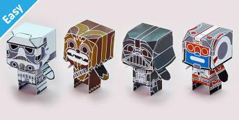 Enkl Sci-Fi Desk Buddy Characters Printable - enkl, sci-fi, desk buddy, characters, printable
