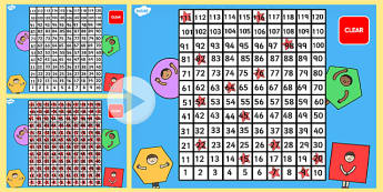 0-120 Number Square PowerPoint - number square, powerpoint, 0-120