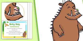 Sensory Activity To Support The Teaching On The Gruffalo Busy Bag Prompt Card and Resource Pack - Sensory, Julia Donaldson
