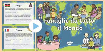 Famiglie da tutto il Mondo PowerPoint - la mia, famiglia, famigliare, powerpoint, famiglie, nel mondo, internazionale, italiano, italian