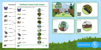 Minibeast Homes Code Hunter - QR Codes, minibeasts, habitats, homes, garden, insects