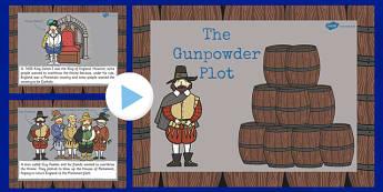 The Gunpowder Plot Information PowerPoint KS2 - gunpowder, plot
