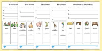 Handwriting Worksheets Letter Formation - writing, english, fine motor skills, presentation, KS1, key stage 1