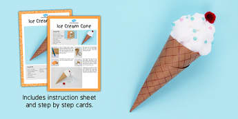 Ice Cream Cone Craft Instructions - craft, instruction, ice cream