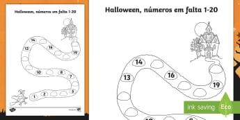 Casa assustadora de Halloween, números até 20 - halloween, festa de halloween, dia das bruxas, bruxas, vampiros, monstros, fantasmas, terror, celebr