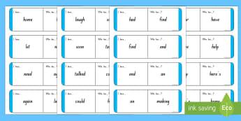 Sight Words - Blue Loop Cards