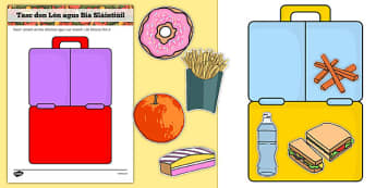 Healthy Eating Lunch Activity Gaeilge - irish, gaeilge, healthy, healthy eating, sort, activity, fruit, game, how to eat healthy, vegetable, healthy snack, lunch, snack time, snack, food, sorting
