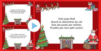 Petit Papa Noël Christmas Carol - french, petit papa noel, christmas carol, christmas