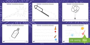 New Year Pencil Control Activity Sheets English/Spanish - New Years Pencil Control Sheets - new years, pencil control, sheets, pencil, control, pencilcontrol,