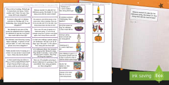 Halloween Themed Maths Challenge Sticky Avery Labels - October, Math, Classroom, Stickers, Numeracy, Word problems, problems, Scenarios