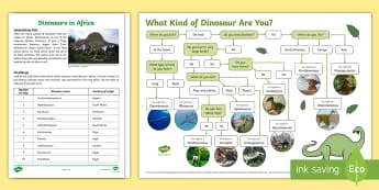 Dinosaurs in Africa Activity Pack - dinosaurs, investigation, types of dinosaurs, african countries, geography