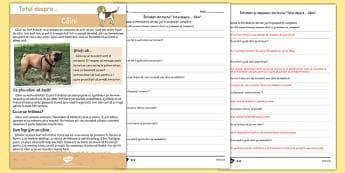 Totul despre câini - Text și fișă de comprehensiune a textului