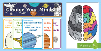 Space Themed Developing Growth Mindset Display Pack - Space Themed Developing Growth Mindset Display Pack - Growth, Mindset, Displays,positive thinking, g