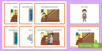 Initial 'st' Word Story Cards - Clusters, cluster reduction, cluster simplification, phonology, speech sounds, articulation, st, spe